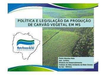 POLÍTICA E LEGISLAÇÃO DA PRODUÇÃO DE CARVÃO VEGETAL ...