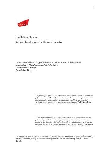 1 Línea Política Educativa Sublínea Marco Regulatorio y Horizonte ...