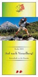 Auf nach Vorarlberg! - Tiscover
