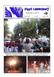 Revista d'agost - Fent Carrerany digital. Maria de la Salut