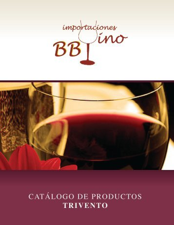 CATÁLOGO DE PRODUCTOS TRIVENTO - Bbvino.com.mx
