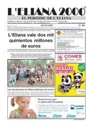 L'Eliana vale dos mil quinientos millones de euros - Eliana 2000