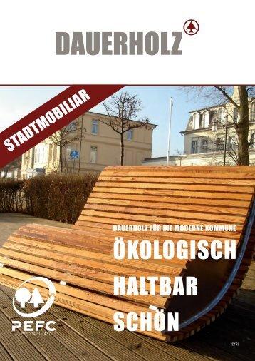 DAUERHOLZ Produktbroschüre Stadtmobiliar