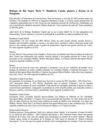 Bodegas de Río Negro. Humberto Canale - Expo Vinos Bariloche
