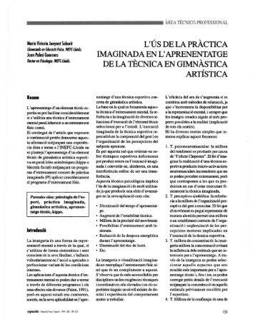 L'ÚS DE LA PRÀCTICA IMAGINADA EN L ... - apunts