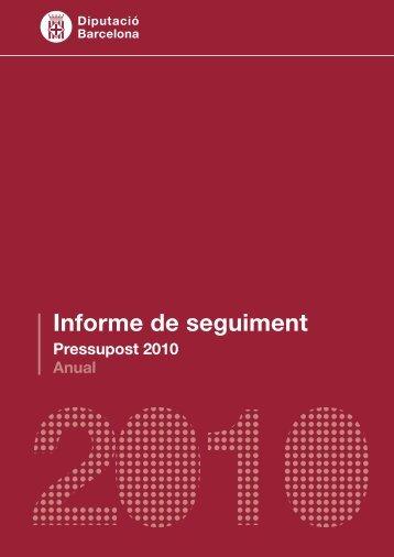 Informe de seguiment - Diputació de Barcelona