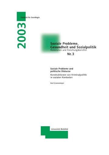 Soziale Probleme und politische Diskurse - Universität Bielefeld
