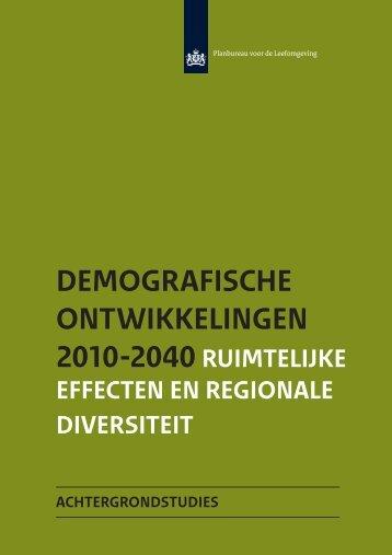 DEMOGRAFISCHE ONTWIKKELINGEN 2010-2040