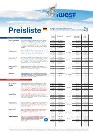 Preisliste (PDF) - iWEST