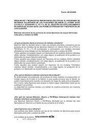 Fecha: 08/10/2009 PREGUNTAS Y RESPUESTAS ... - Intersport