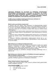 Dátum 08/10/2009 LÉNYEGES KÉRDÉSEK ÉS ... - Intersport