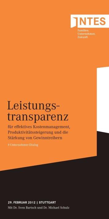 Leistungs- transparenz - INTES