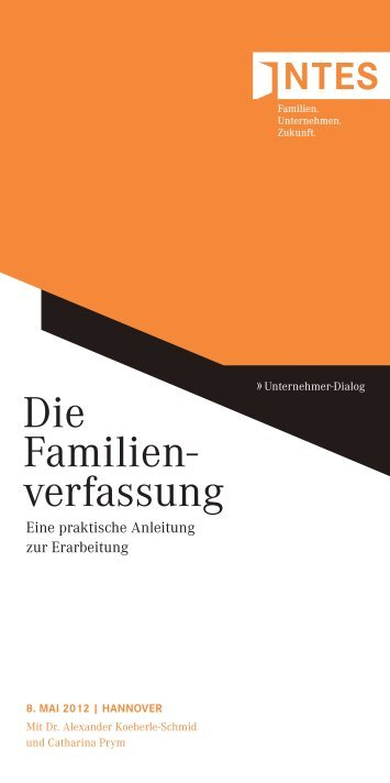 Die Familien- verfassung - INTES