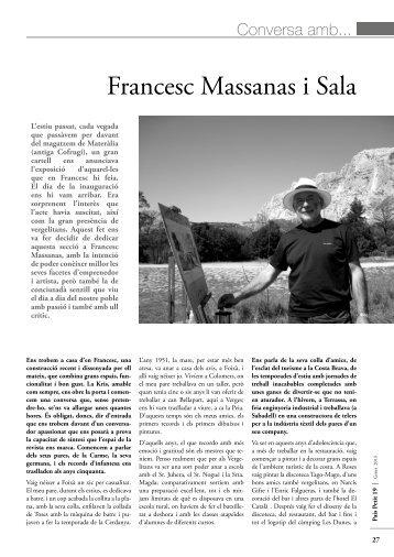 Conversa amb... FRANCESC MASSANAS I SALA