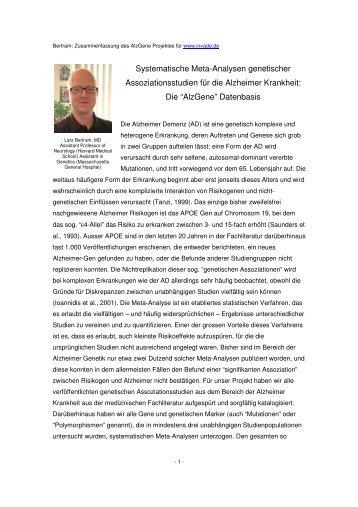 Übersichtsartikel von Prof. Lars Bertram(pdf 50k) - Invade