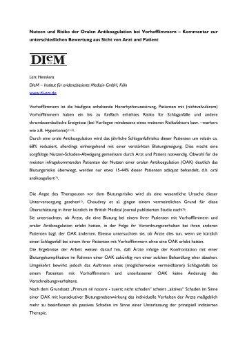Kommentar von Lars Hemkens, DIeM (pdf 54k) - Invade