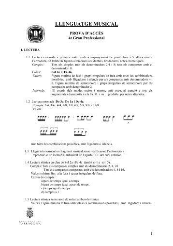 4t Llenguatge musical. Programació