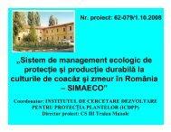 Sistem de management ecologic de protectie si productie ... - CNMP