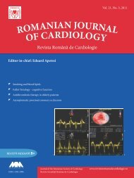 Vol. 21, No. 3, 2011 - Romanian Journal of Cardiology
