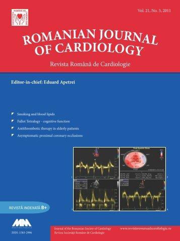 Vol. 21, No. 3, 2011 - Romanian Journal of Cardiology