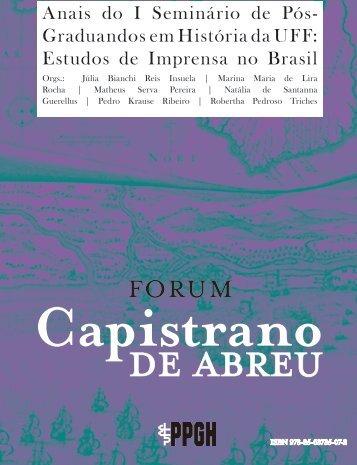 Estudos de Imprensa no Brasil - Área de História - UFF
