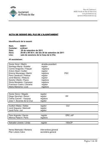 Pàgina 1 de 58 - Ajuntament de Pineda de Mar