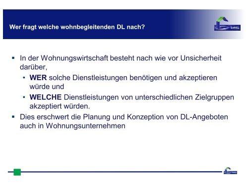 Kostenstrukturen wohnbegleitender Dienstleistungen - InWIS ...