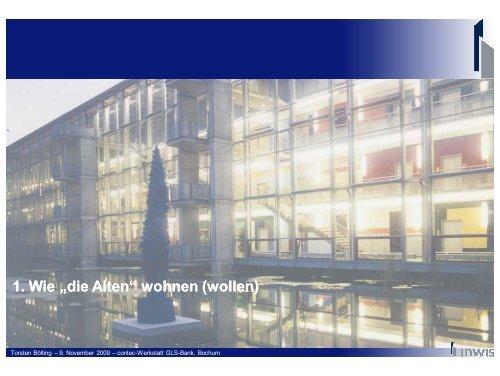 Pflege als Bestandteil eines - InWIS Forschung & Beratung GmbH