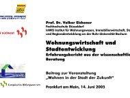 Wohnungswirtschaft und Stadtentwicklung - InWIS Forschung ...