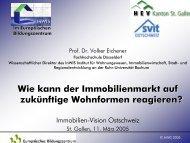 Vortrag von Prof. Dr. Volker Eichener am 11. März 2005 in St. Gallen ...