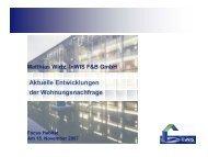Aktuelle Entwicklungen der Wohnungsnachfrage - InWIS Forschung ...