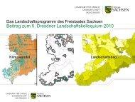 Das Landschaftsprogramm des Freistaates Sachsen