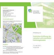 Weitere Informationen - Leibniz-Institut für ökologische ...
