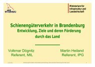 Schienengüterverkehr in Brandenburg - Entwicklung, Ziele ... - IPG