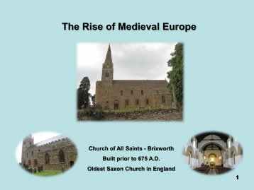 The Rise of Medieval Europe - Bishop Ireton High School