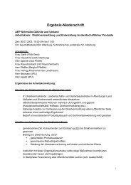 Direktvermarktung und Entwicklung landwirtschaftlicher Produkte - IPU