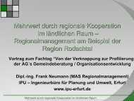Mehrwert durch regionale Kooperation im ländlichen Raum ... - IPU