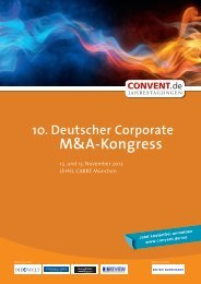 10. Deutscher Corporate M&A-Kongress - Convent