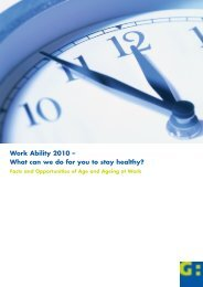 Work Ability 2010 – What can we do for you to stay ... - IQ-Consult