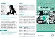 Flyer Woche der Weiterbildung 2009 - IQ-Consult