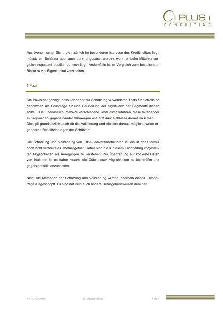 IRBA Konversionsfaktoren- - 1 PLUS i GmbH