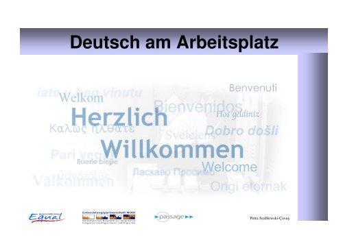 Deutsch am Arbeitsplatz (Petra Szablewski-Cavus) - Migration-online