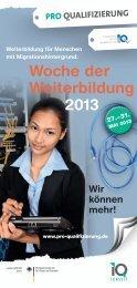 Woche der Weiterbildung 2013 - IQ-Consult