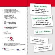 Beratungsstelle Sportello di consulenza Tel. 02 ... - Migration-online