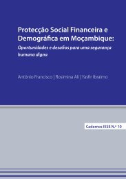 Protecção Social Financeira e Demográfica em Moçambique: