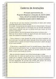 Caderno de Anotações - Sebrae