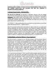 observações sobre o estatuto do funcionário público civil do poder ...