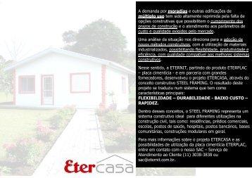 A demanda por moradias e outras edificações de múltiplo ... - Eternit