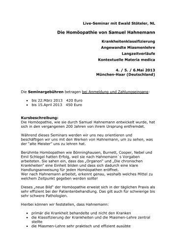 Seminarflyer - Verlag Peter Irl
