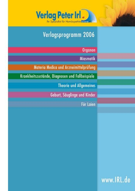 Verlagsprogramm - Verlag Peter Irl